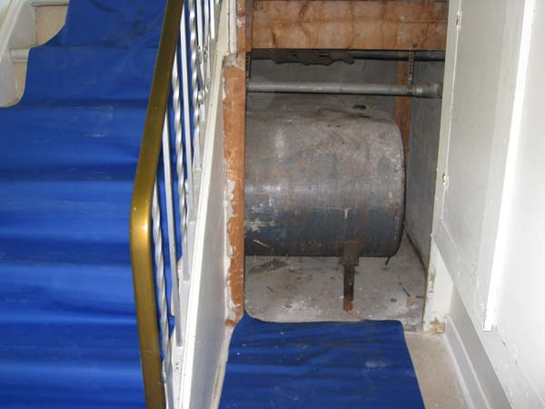 Photo of Removal of residential oil tank under stairs