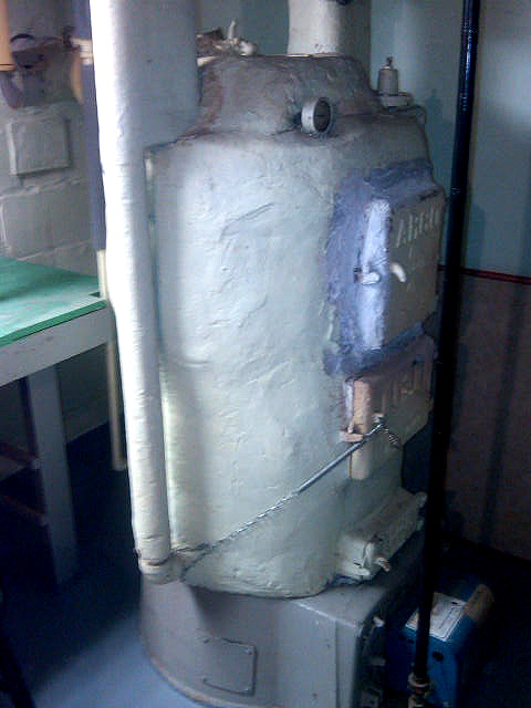 Photo of Residential Boiler with Asbestos Removal