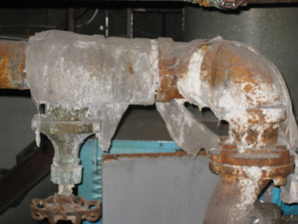 Photo of Boiler Pipe Asbestos Insulation