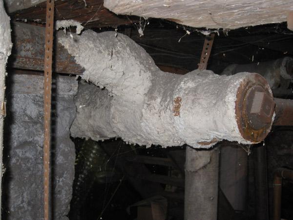 Photo of Pipe Asbestos in Bad Shape