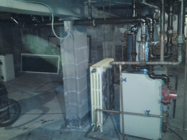 Photo of Residential Asbestos Pipe Insulation Removal (After)