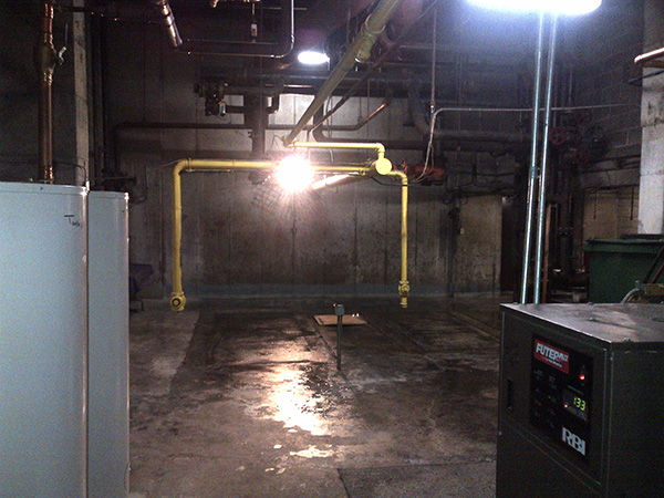 Photo of Removal of a Commercial Gas Boiler after