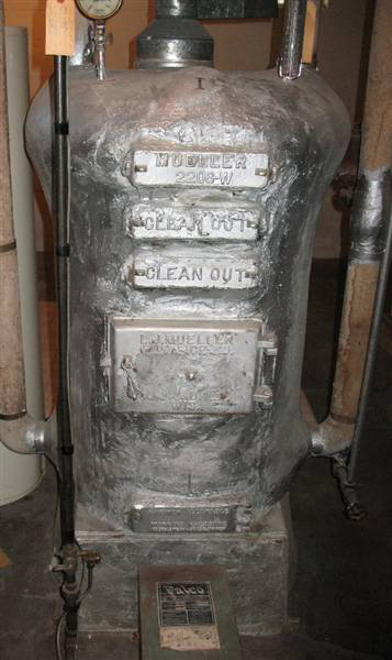 Photo of Old Iron Boiler Removed