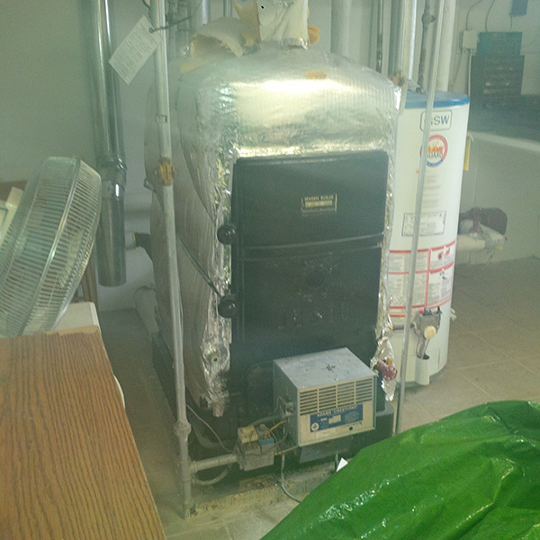 Photo of Removal of the Asbestos Insulated Boiler