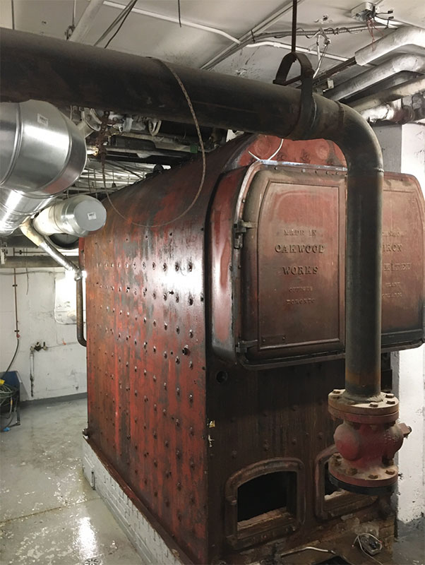 Photo of Commercial boiler before