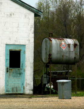 Photo of an Abandoned Diesel Fuel Tank