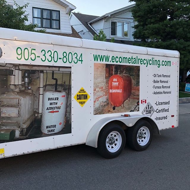 Photo of the ECO Metal Recycling Service Truck