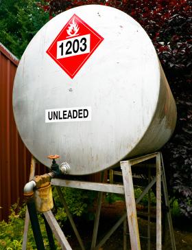 Photo of a Gasoline Storage Tank