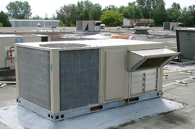 Photo of an HVAC Rooftop Unit in Binbrook