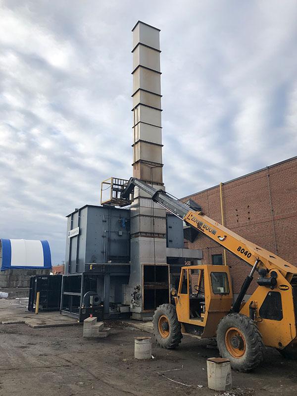 Photo of Industrial Equipment Dismantling in Casselman, Ontario