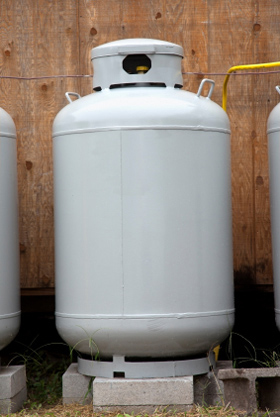 Photo of a Propane Storage Tank